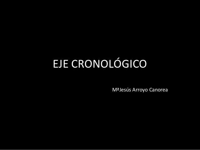 EJE CRONOLÓGICO         MªJesús Arroyo Canorea