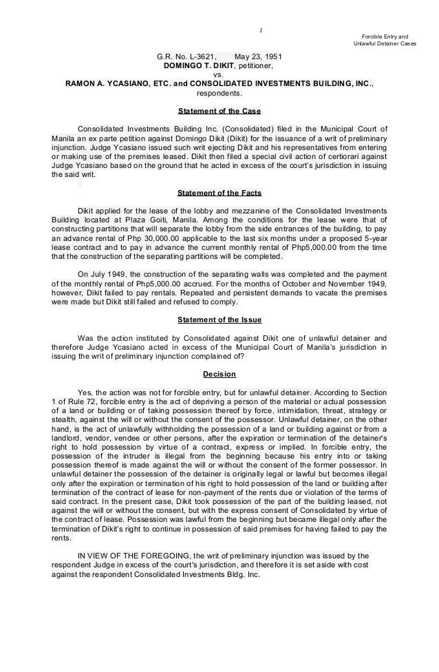 property case digests Noarticle 1484 of the civil code provides that in a contract of sale of personal property the price of which  ebal digest nalzaro digest case digest .