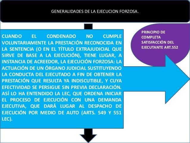 Ejecucion forzosa for Que es un proceso extrajudicial