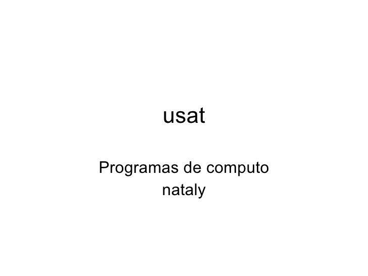 usat Programas de computo nataly
