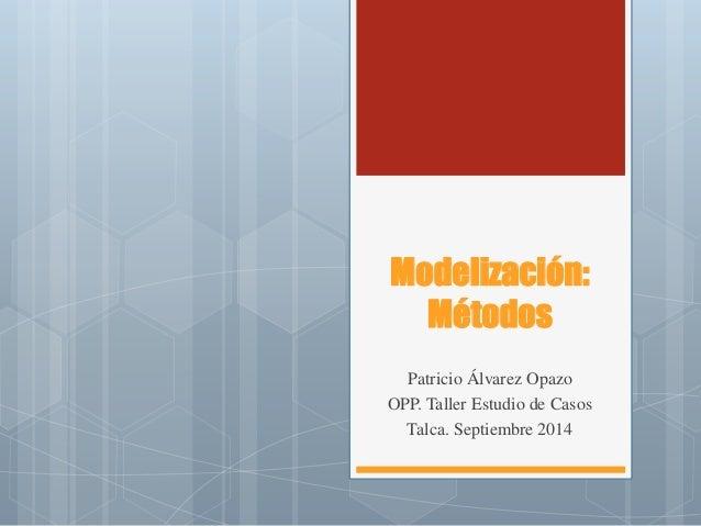 Modelización: Métodos  Patricio Álvarez Opazo  OPP. Taller Estudio de Casos  Talca. Septiembre 2014