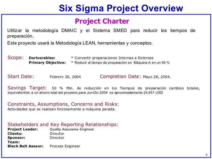 Ejemplo Lean SMED Slide 3