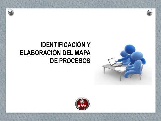 IDENTIFICACIÓN Y ELABORACIÓN DEL MAPA DE PROCESOS