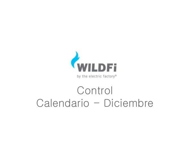 Control Calendario - Diciembre
