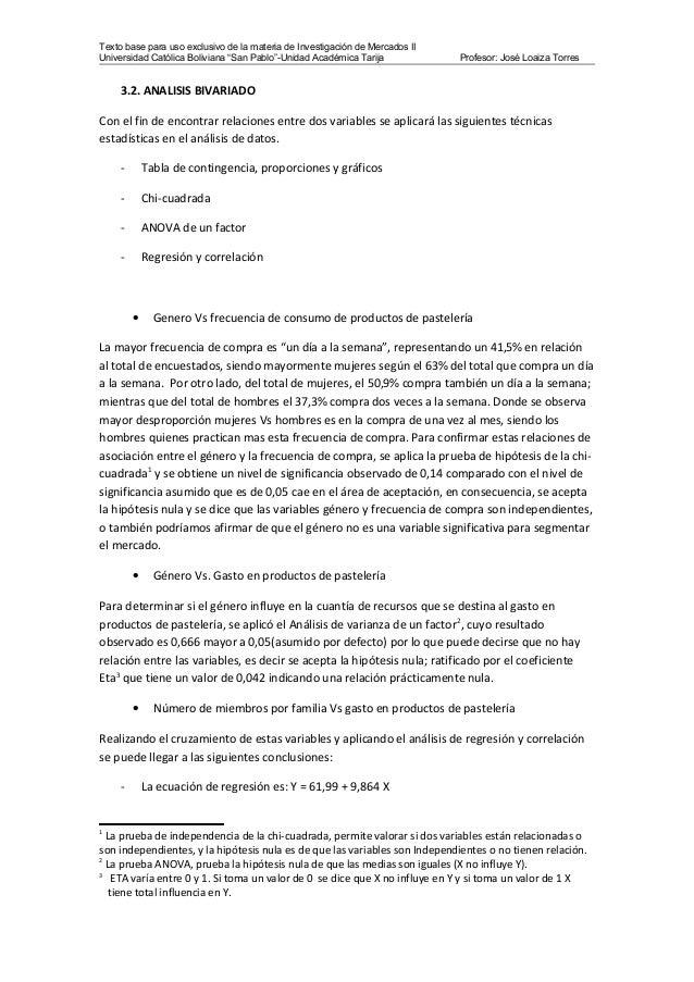 """Texto base para uso exclusivo de la materia de Investigación de Mercados II Universidad Católica Boliviana """"San Pablo""""-Uni..."""