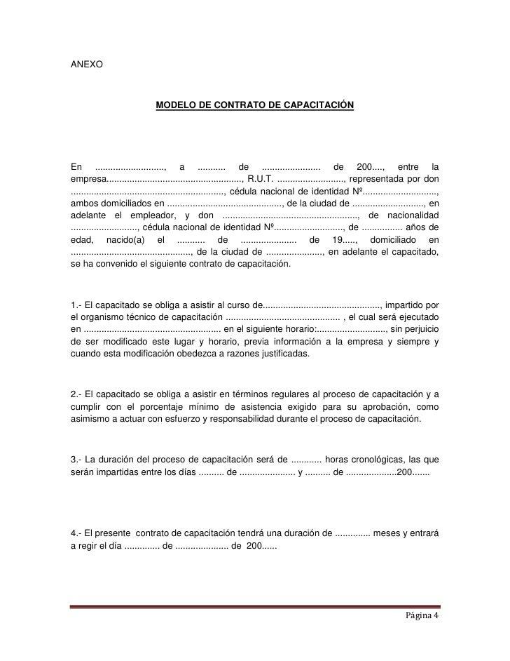 Ejemplo de contrato for Formato de contrato de trabajo