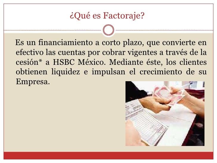 Ejemplo de factoraje Slide 2