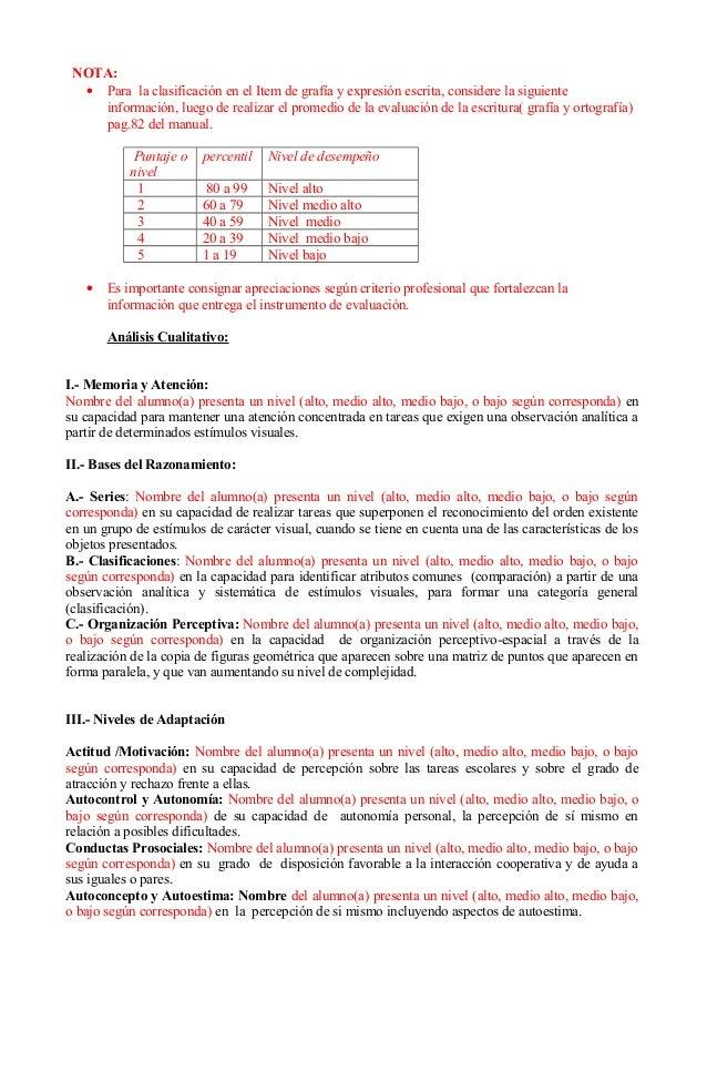Ejemplo de informe para evalúa 1