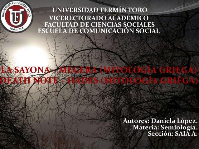UNIVERSIDAD FERMÍN TORO VICERECTORADO ACADÉMICO FACULTAD DE CIENCIAS SOCIALES ESCUELA DE COMUNICACIÓN SOCIAL Autores: Dani...