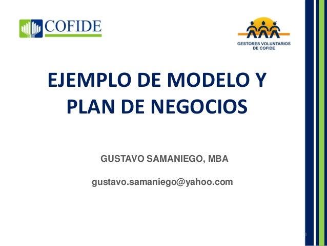 Ejemplo De Modelo Y Plan De Negocios