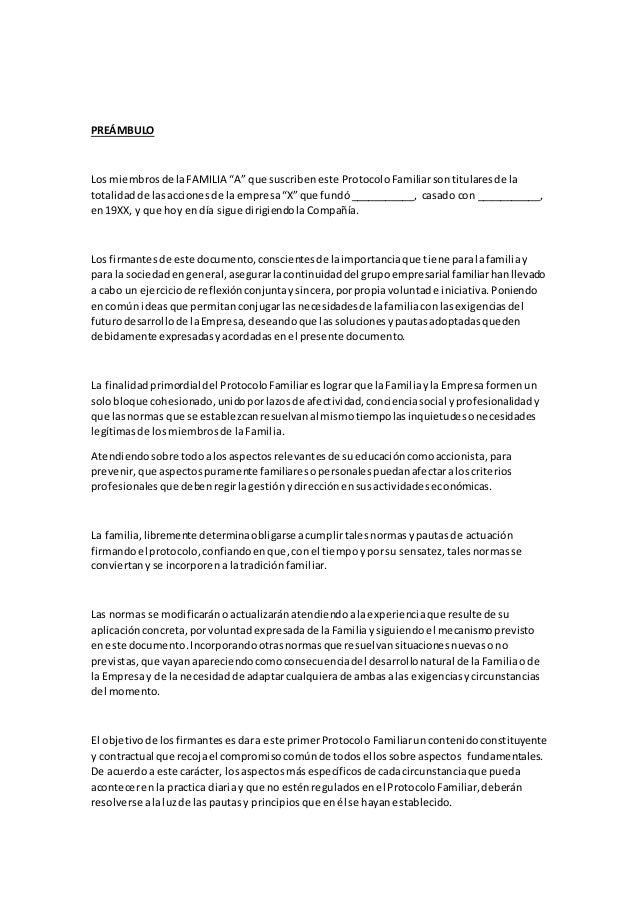 Ejemplo de protocolo familiar for Ejemplo protocolo autocontrol piscinas