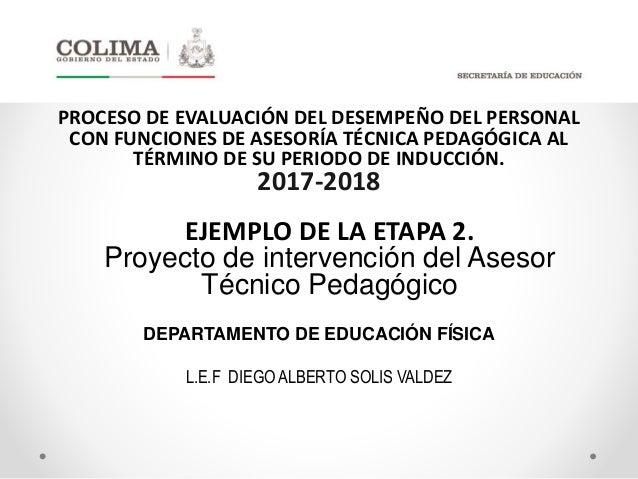 Ejemplo de proyecto de intervenci n evaluaci n del for Proyecto tecnico ejemplos