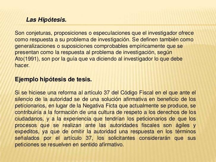 Como Hacer Una Hipotesis De Un Trabajo De Investigacion ...
