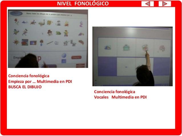 NIVEL FONOLÓGICO Conciencia fonológica: análisis silábico Multimedia PDI Conciencia fonológica: análisis silábico Tablero/...