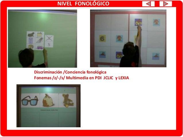 NIVEL FONOLÓGICO Conciencia fonológica: análisis silábico Multimedia PDI CREENA y CLIC