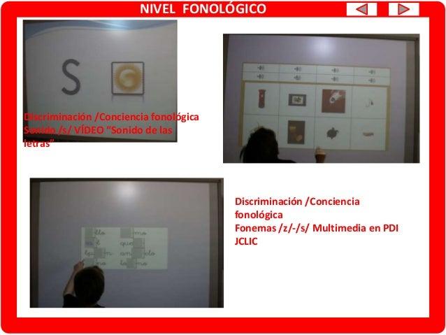 NIVEL FONOLÓGICO Articulación. Generalización de fonemas CUENTOS/TARJETAS Conciencia fonémica/Articulación. JUEGO DE LA OCA