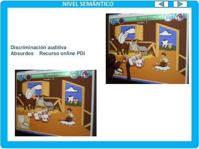 NIVEL SEMÁNTICO Recursos, organizados con el Software de la PDI, para trabajar contenidos de forma globalizada. Ejemplo U....
