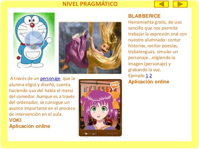 NIVEL SEMÁNTICO Descripción física Recurso online NIVEL PRAGMÁTICO Descripción de personajes, objetos y animales Recurso o...