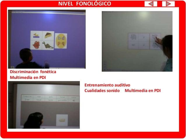 NIVEL FONOLÓGICO Discriminación /Conciencia fonológica Fonemas /z/-/s/ Multimedia en PDI JCLIC y LEXIA
