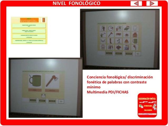 NIVEL FONOLÓGICO Discriminación /Conciencia fonológica Fonemas /z/-/s/ Multimedia en PDI JCLIC Discriminación /Conciencia ...