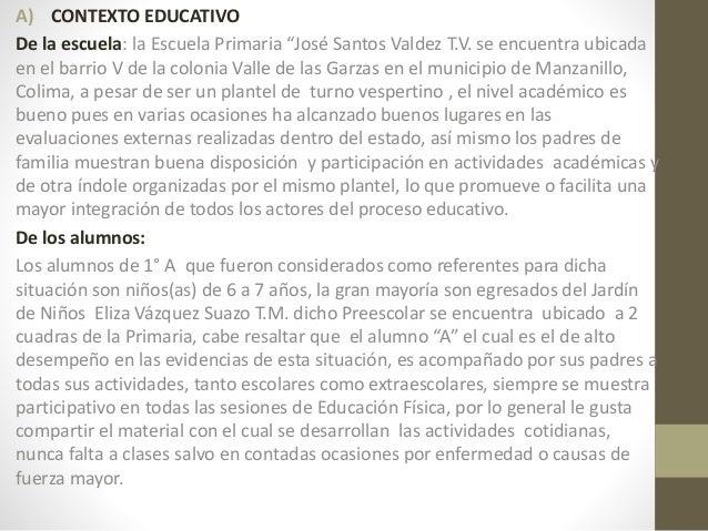Ejemplo De Situación De Aprendizaje Y Texto De Analisis Educación Fís