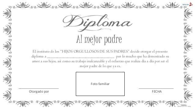Ejemplo diplomas para el da del padre