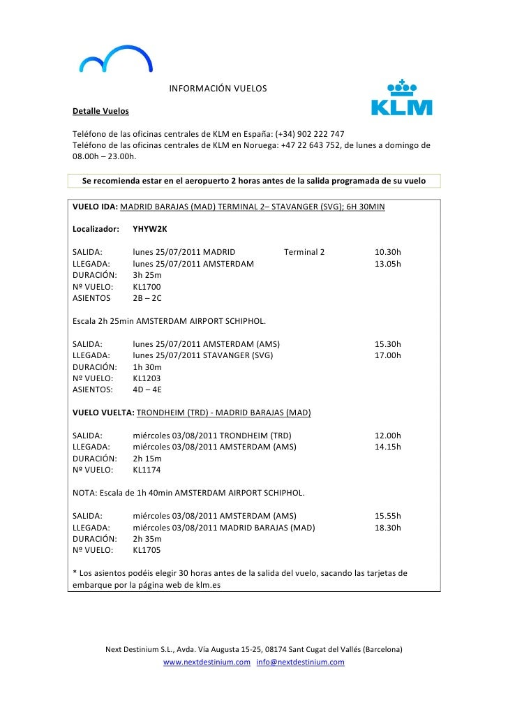 Dossier viaje personalizado personalized travel dossier for Oficinas de klm