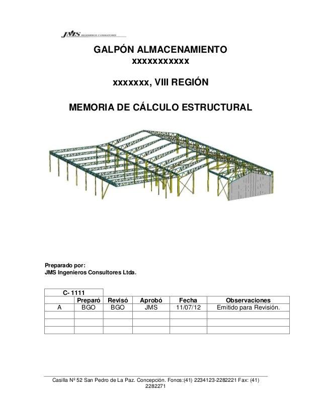 Ejemplo memoria de calculo estructural for Diseno estructural pdf