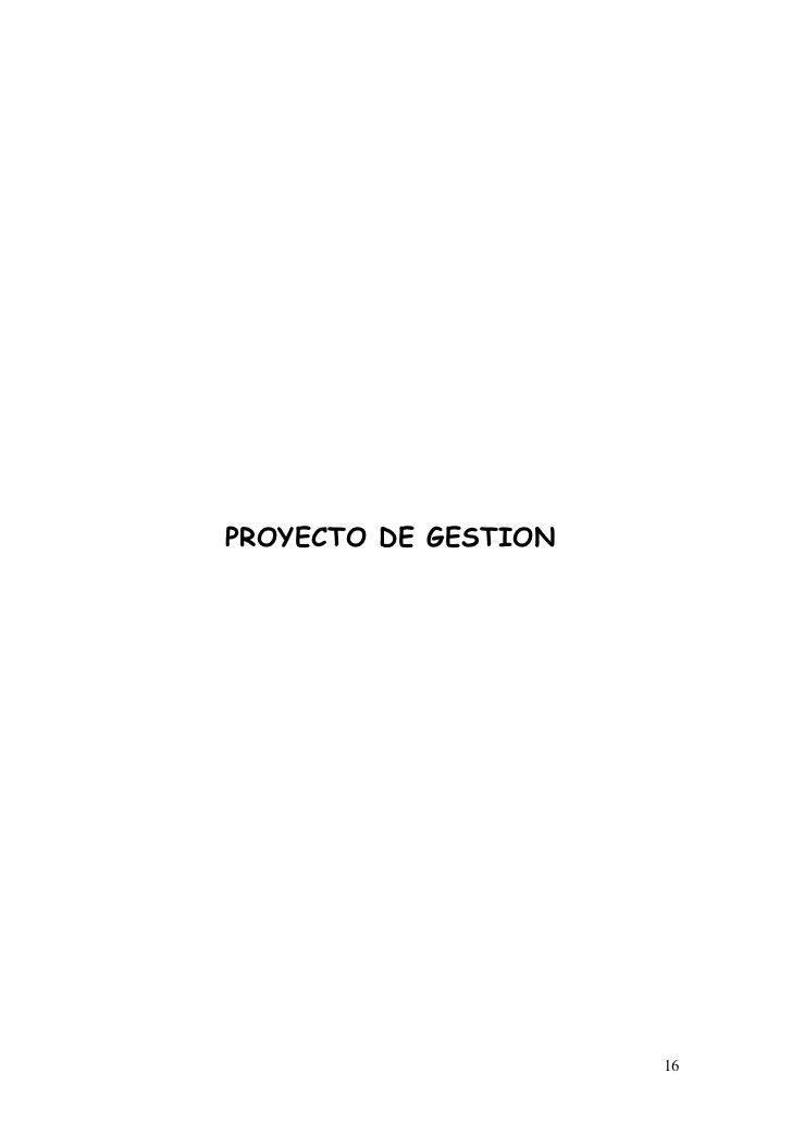 PROYECTO DE GESTION                      16