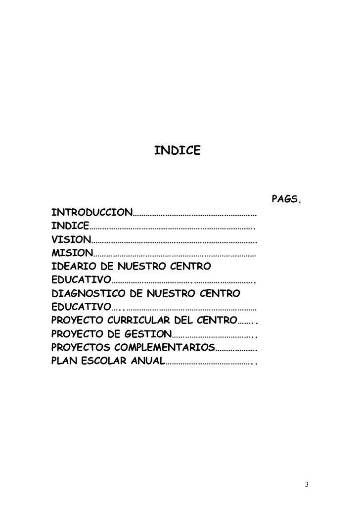 INDICE                                     PAGS.INTRODUCCION…………………………………………………INDICE………………………………………………………………….VISION……………...