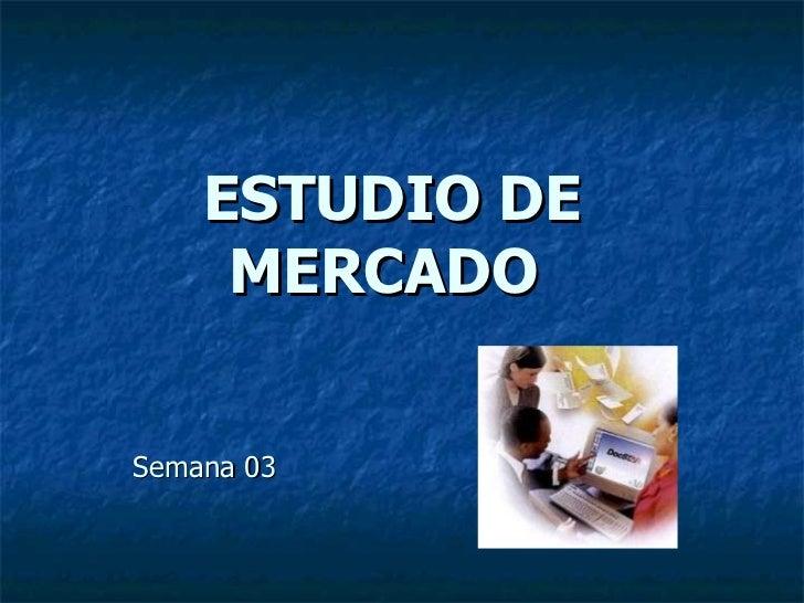 ESTUDIO DE MERCADO   Semana 03