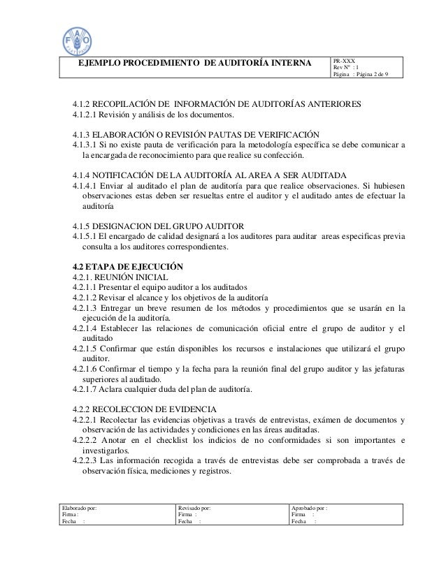 Famoso Ejemplos De Objetivos De Reanudación De Auditoría Interna ...