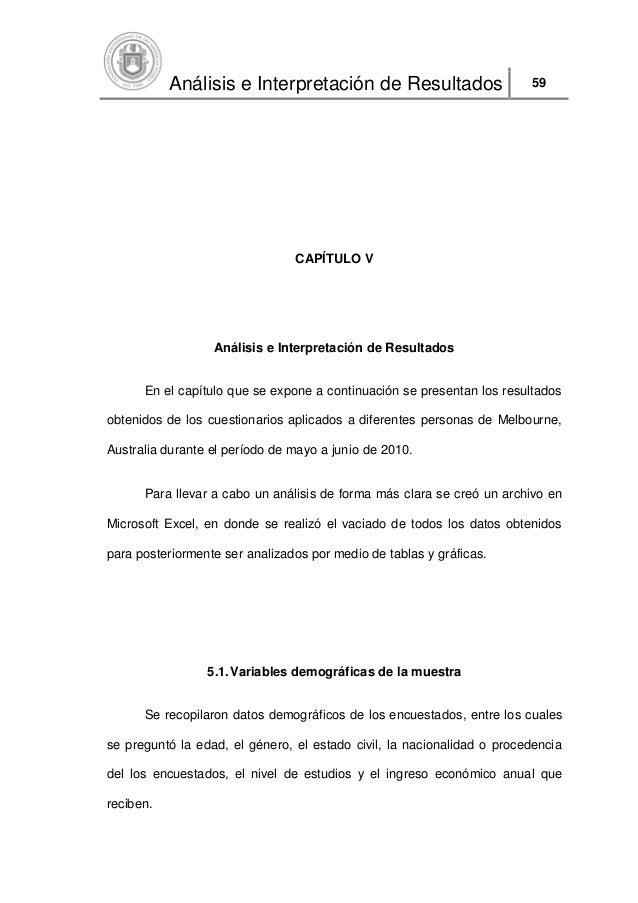 Análisis e Interpretación de Resultados                      59                                CAPÍTULO V                 ...