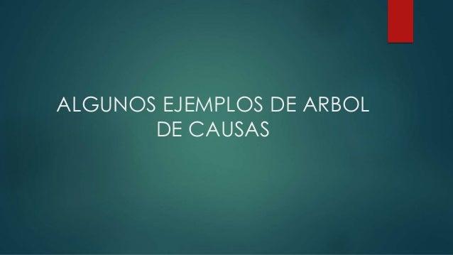 ALGUNOS EJEMPLOS DE ARBOL DE CAUSAS