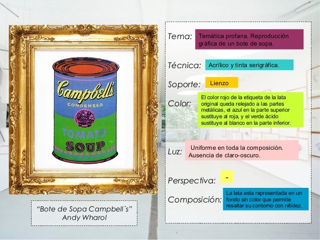 Tema:     Temática profana. Reproducción                                      gráfica de un bote de sopa.                 ...