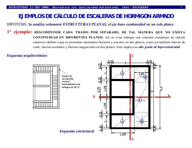 Ejemplos de c lculo escaleras 2011 for Planos de escaleras de concreto armado