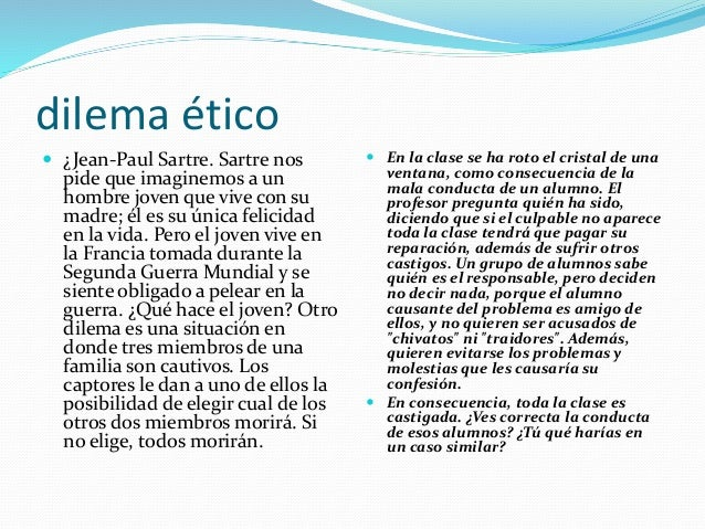 Ejemplos de dilemas Slide 3