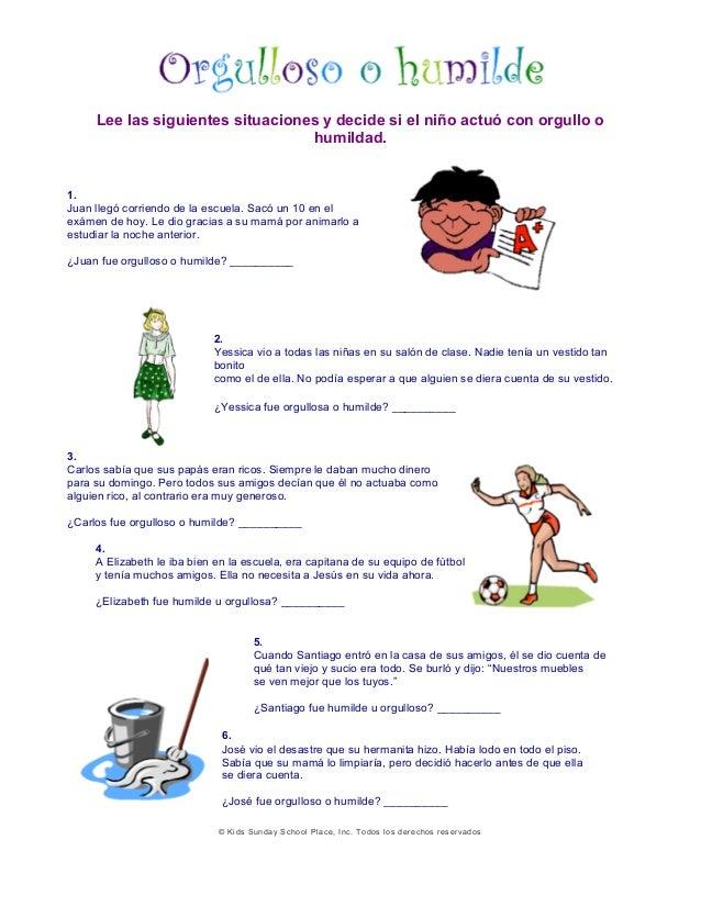 Ejemplos Tema La Humildad Para Niños
