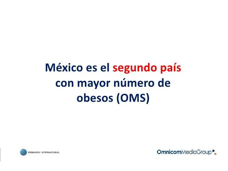 México es el segundo país con mayor número de obesos (OMS)<br />