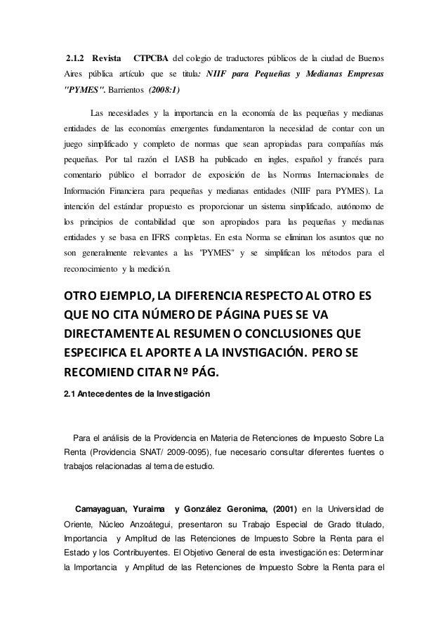 Ejemplos Del Marco Teorico Antecedentes Y Marco Legal De La