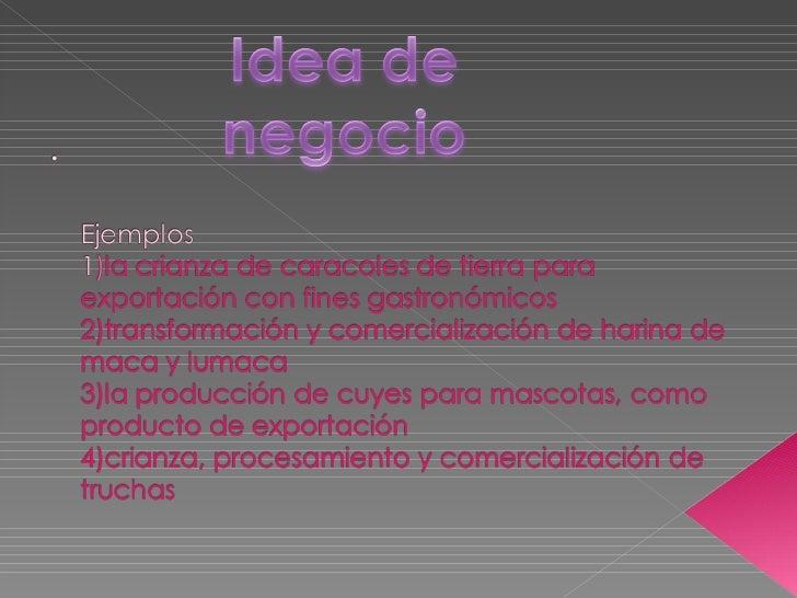 Ejemplos De Oportunidades Y Ideas De Negocios