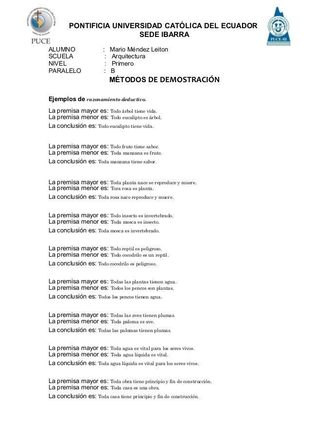 PONTIFICIA UNIVERSIDAD CATÓLICA DEL ECUADOR SEDE IBARRA ALUMNO : Mario Méndez Leiton SCUELA : Arquitectura NIVEL : Primero...