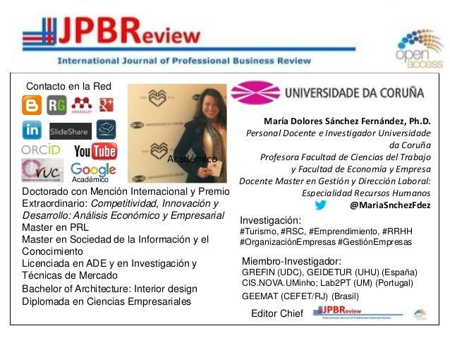 María Dolores Sánchez Fernández, Ph.D. Personal Docente e Investigador Universidade da Coruña Profesora Facultad de Cienci...