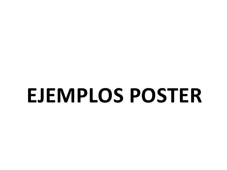 EJEMPLOS POSTER