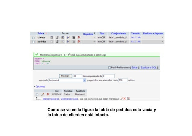 DROP SCHEMA IF EXISTS Tablas4;CREATE SCHEMA Tablas4;USE Tablas4;create table Cliente(              Dni VARCHAR(10),       ...