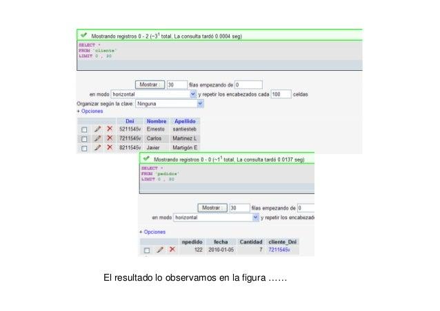 Ahora si que podemos incorporar una tupla nueva de pedido conel cliente incorporado en la tabla de clientes
