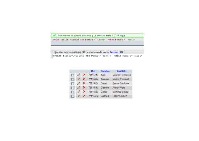 DROP SCHEMA IF EXISTS SELECT1;CREATE SCHEMA SELECT1;USE SELECT1;create table Información Ventas(             Información_V...