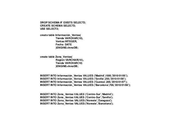 Tabla: Información_Ventas    Selección Búsqueda de Patrones (LIKE):Seleccion de tuplas que contengan un patrón