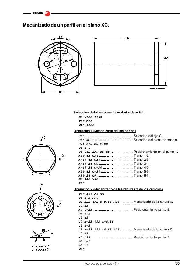 Ejemplos torno fagor 8055
