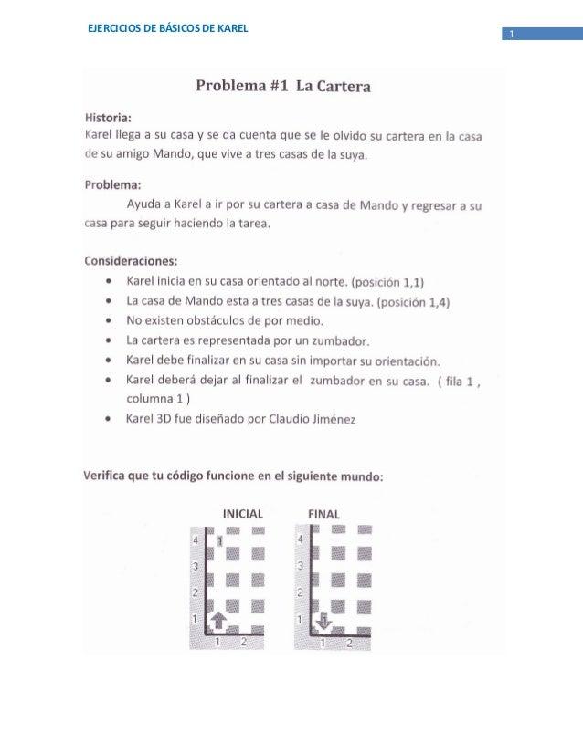 EJERCICIOS DE BÁSICOS DE KAREL   1